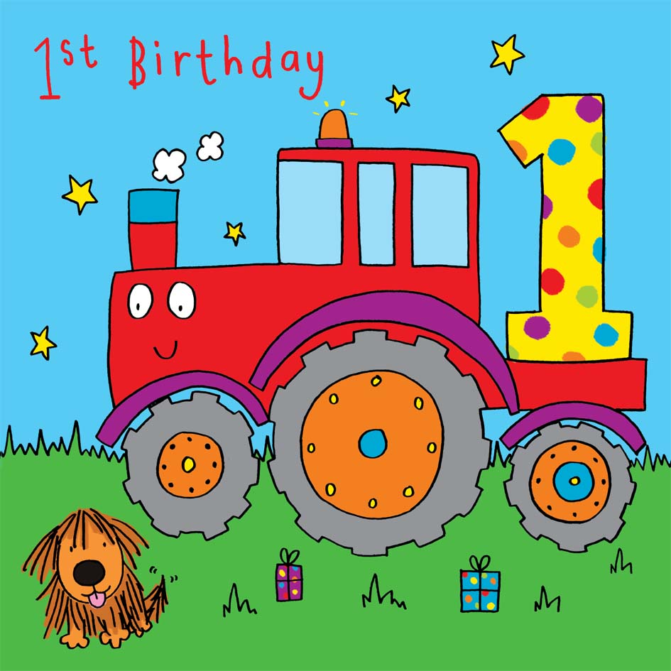 Kids Cards Kids Birthday Cards – Tractor Birthday Cards