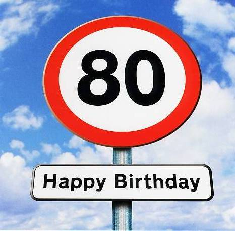 Greeting Card Greeting Card UK birthday greeting cards – 80 Birthday Card