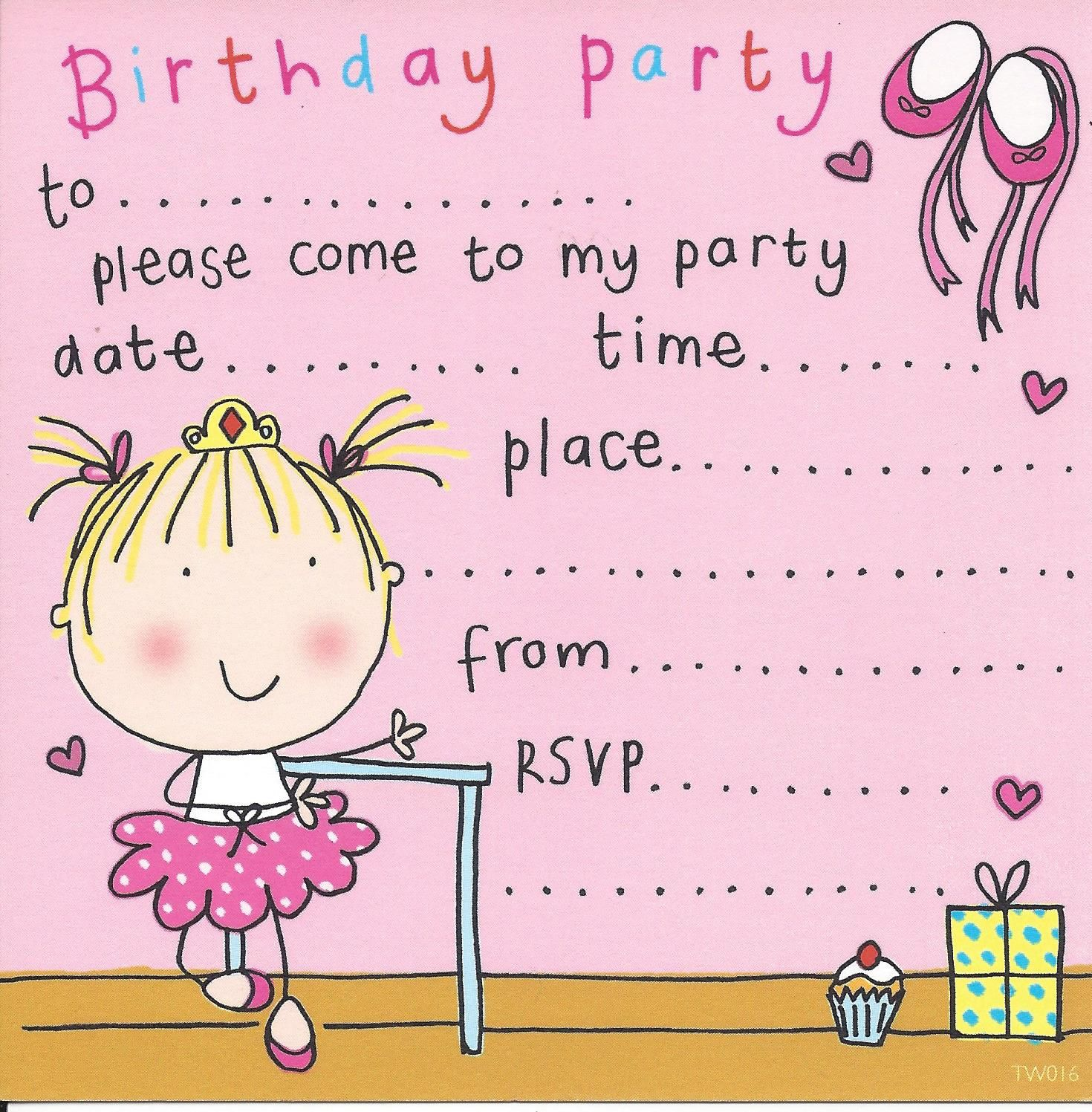 Party Invitations Birthday Kids