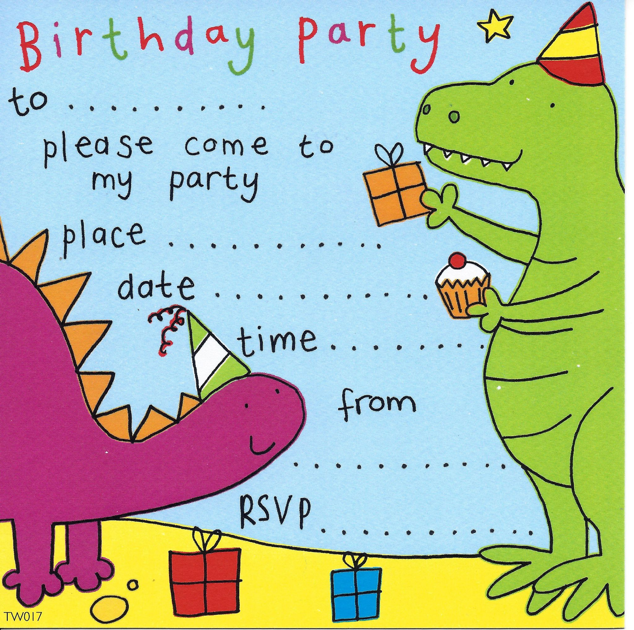 Party invitations birthday party invitations kids party dinosaur childrens party invitation stopboris Gallery