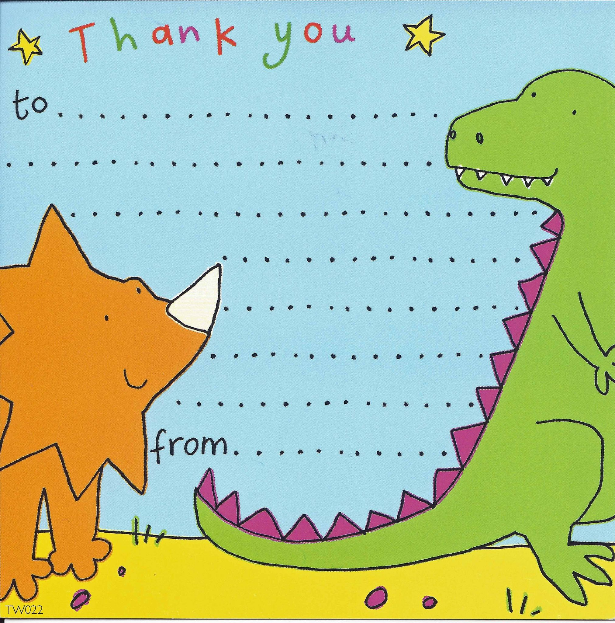 Thank you notes for kids thank you cards for children kids thank dinosaur thank you note kristyandbryce Choice Image