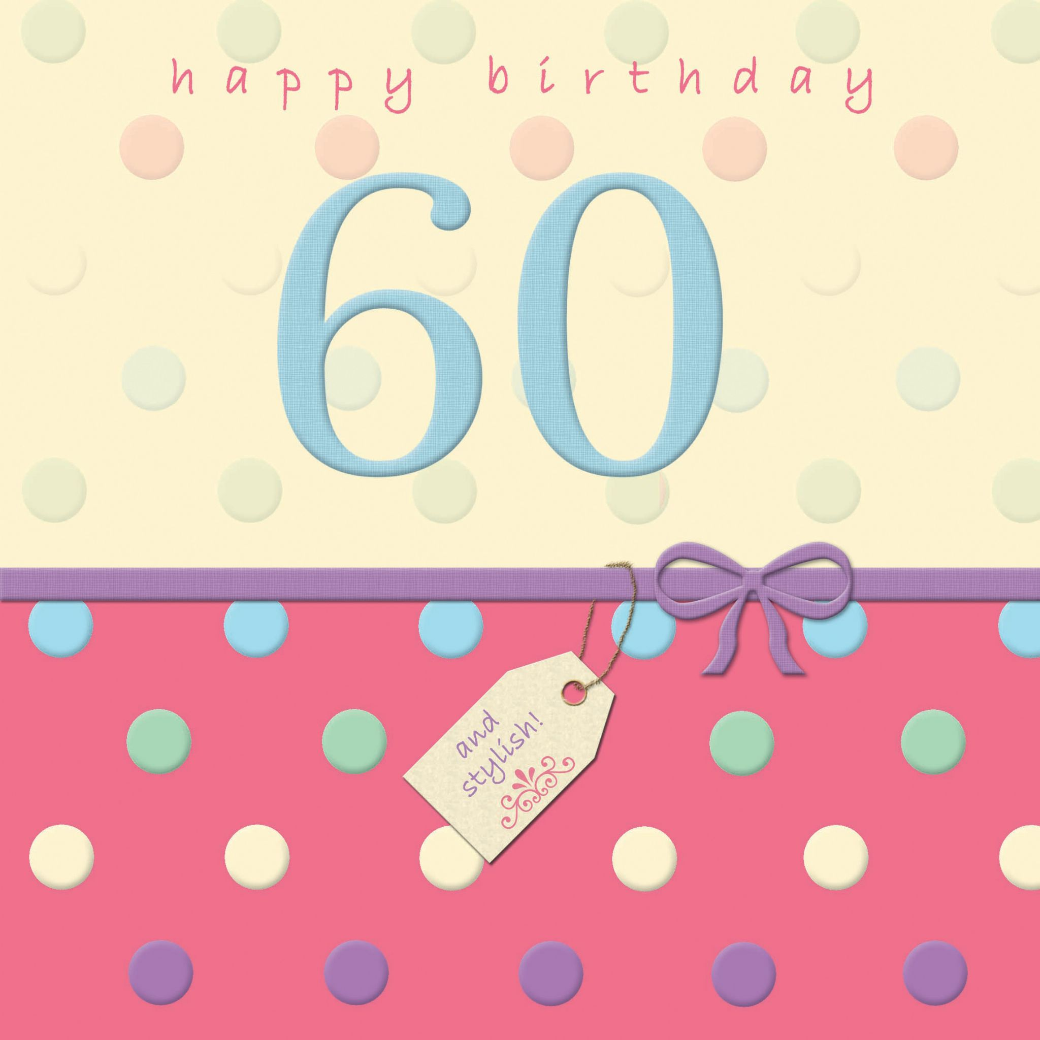 Greeting card greeting card uk birthday greeting cards happy birthday card 60 with swarovski crystal dotty days bookmarktalkfo Image collections