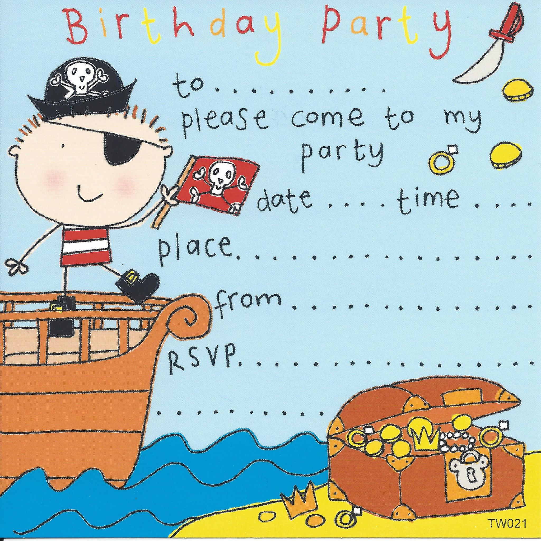 party invitations birthday party invitations kids party – Pirate Party Invite