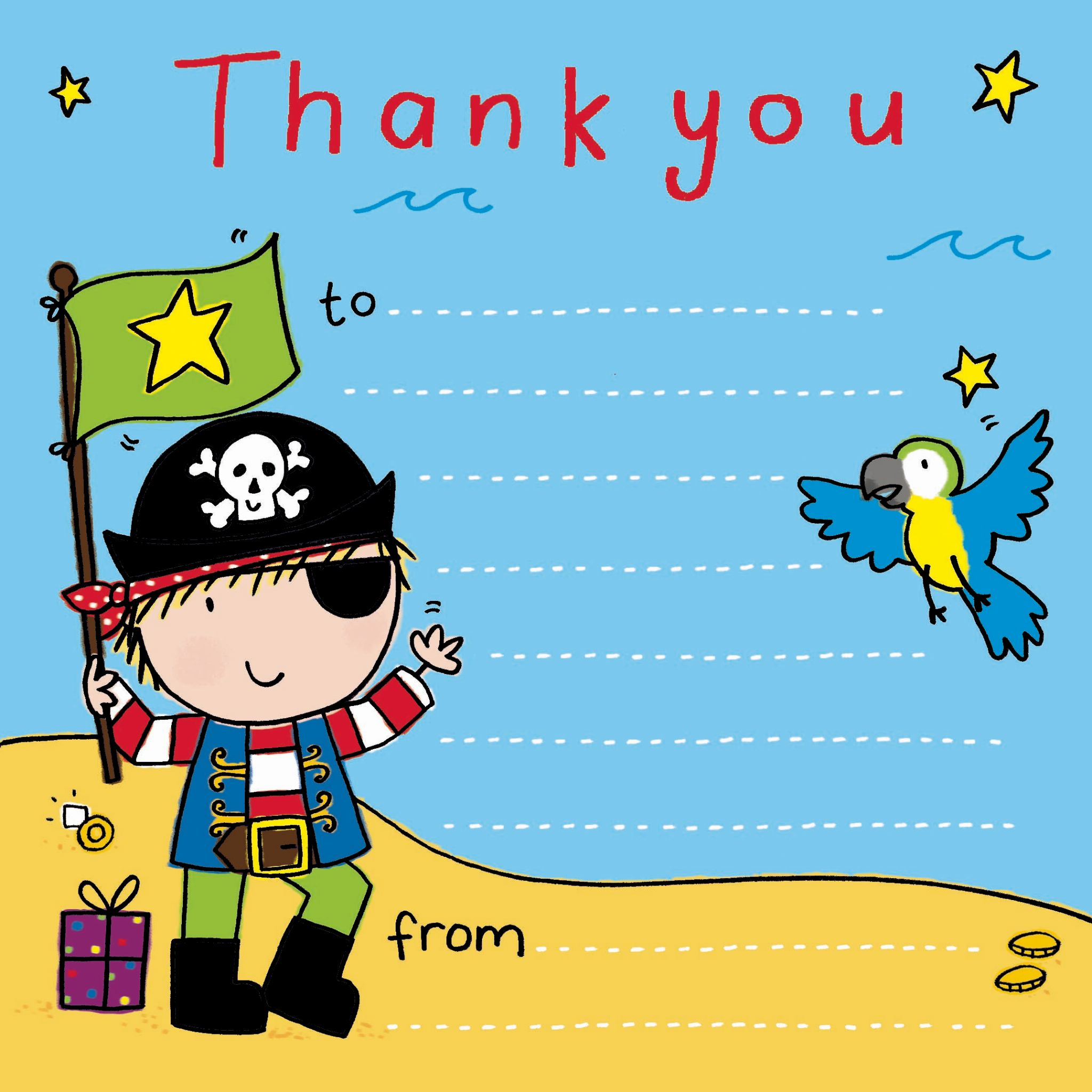 Thank You Notes For Kids Thank You Cards For Children Kids Thank - Children's birthday thank you notes