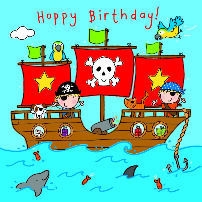 Greeting card greeting card uk birthday greeting cards pirate ship happy birthday m4hsunfo