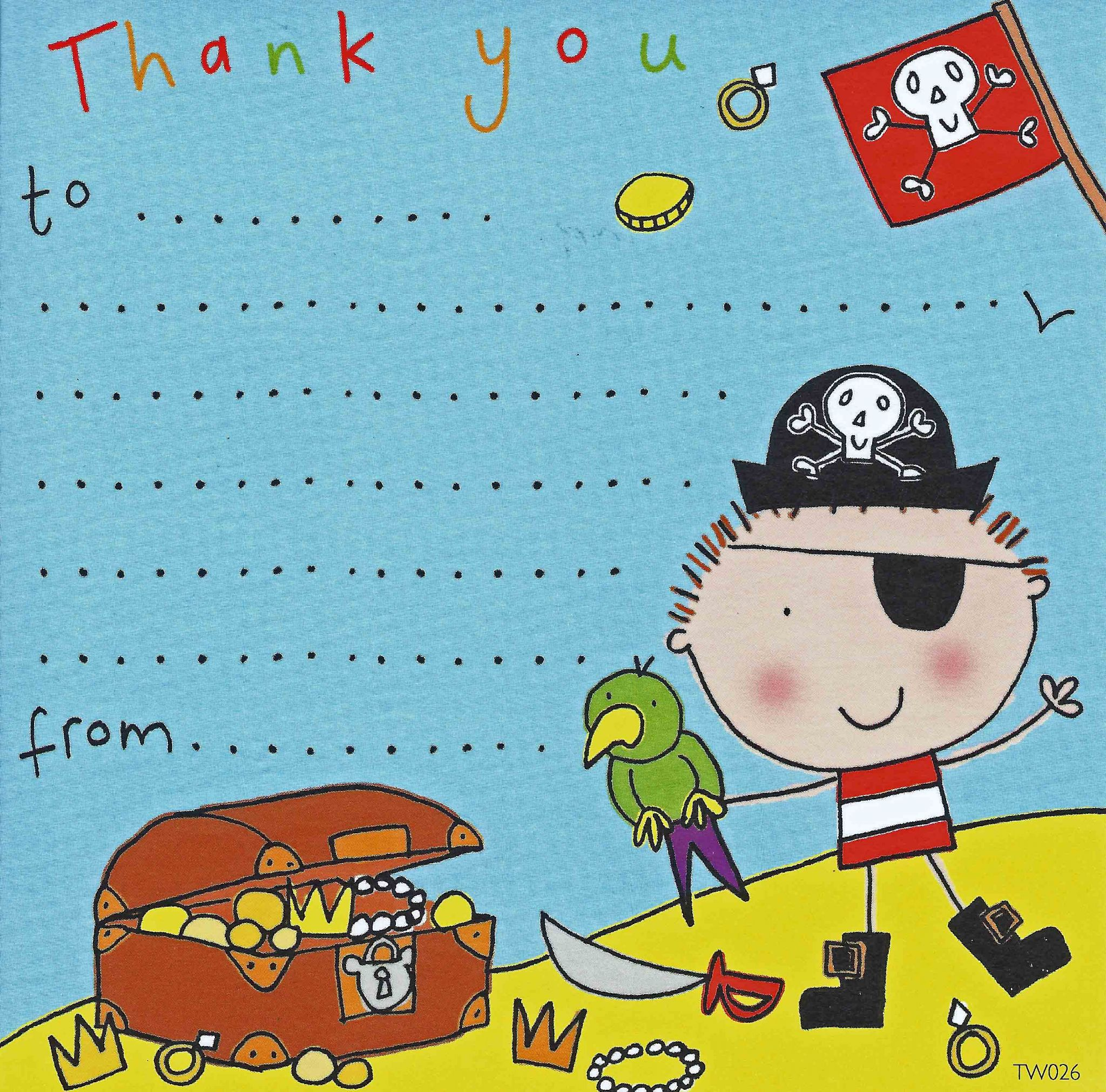 Thank you notes for kids thank you cards for children kids thank pirate thank you note kristyandbryce Images