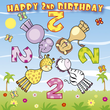 Spinners - Age 2 Birthday Card