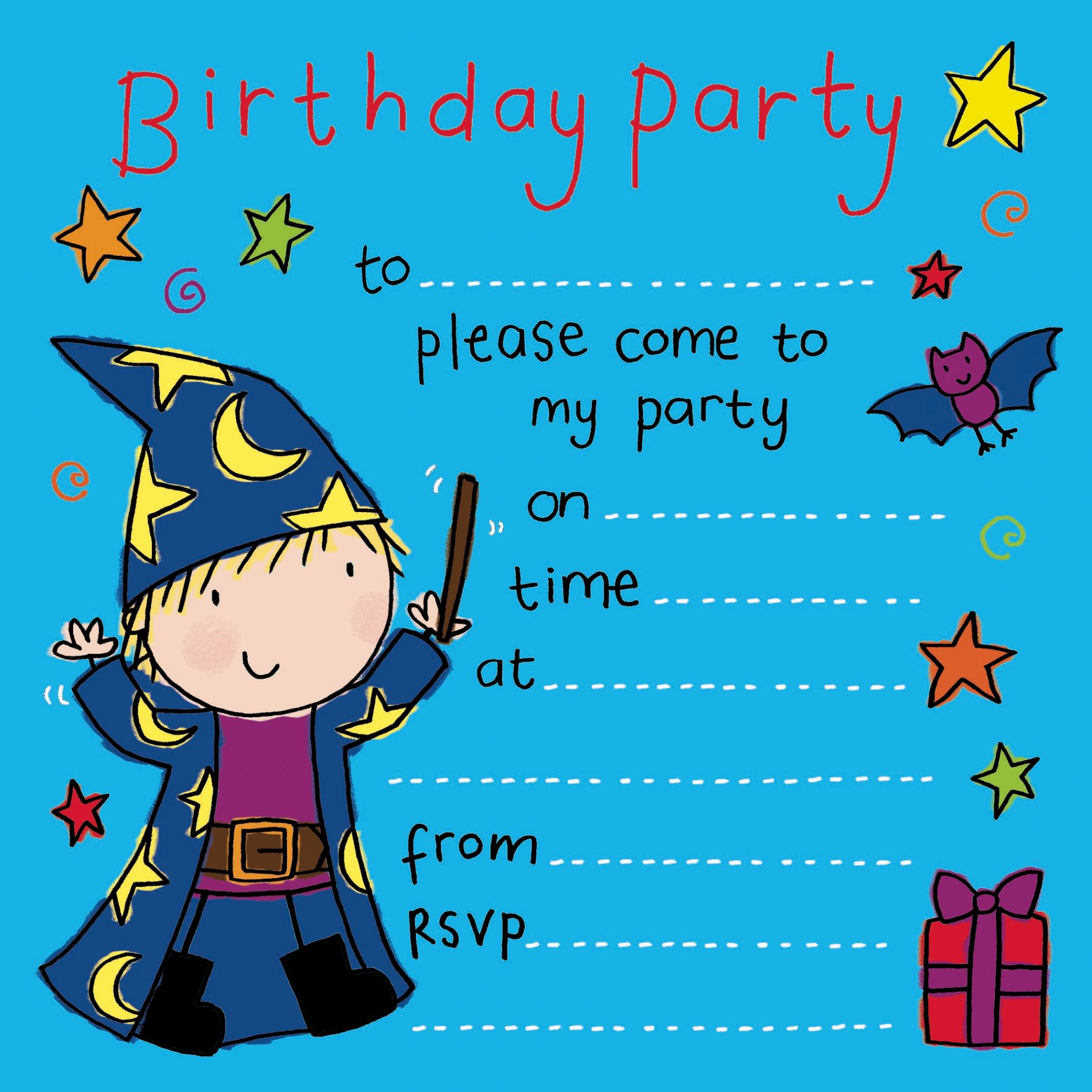 kids party invitations