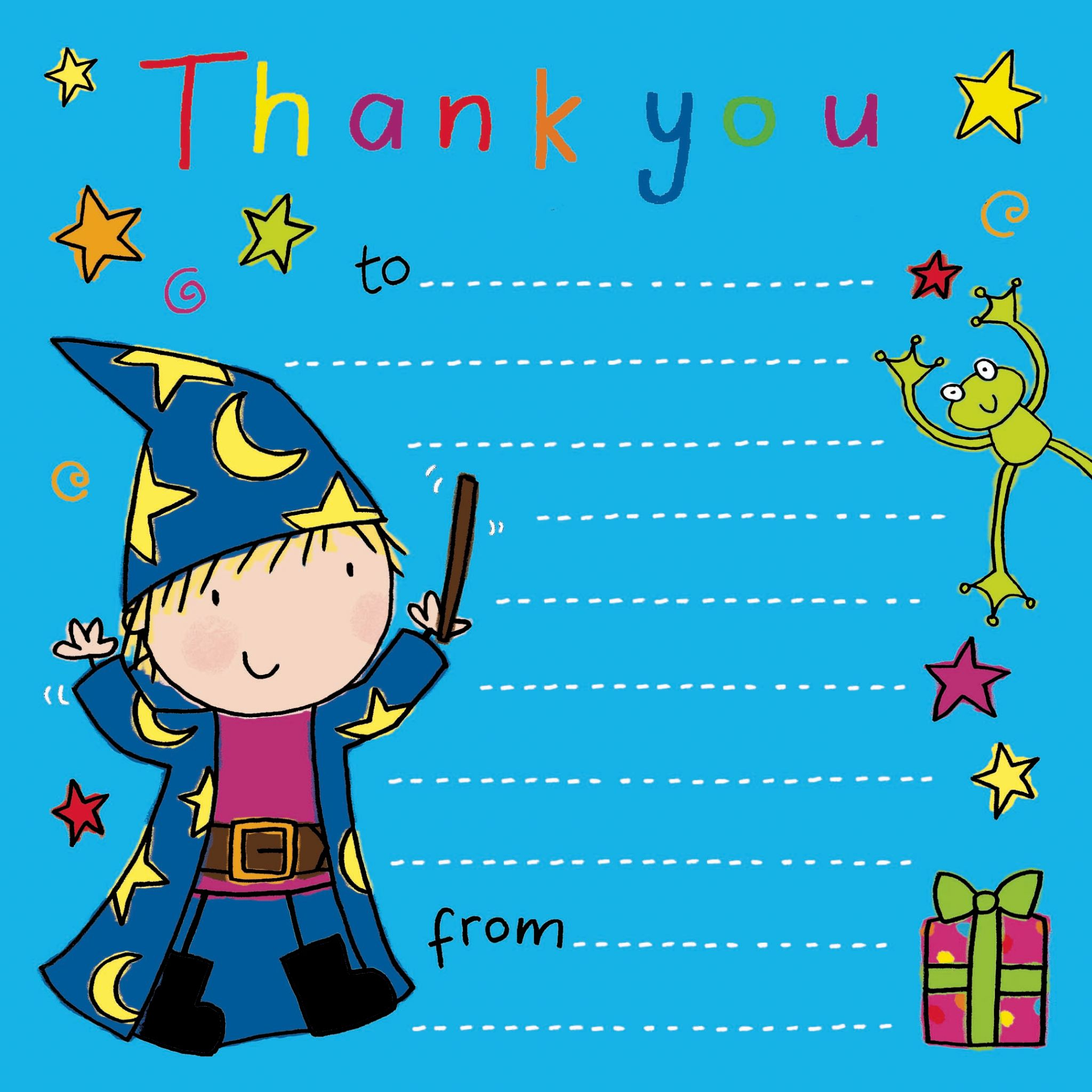 Thank you notes for kids thank you cards for children kids thank wizard time thank you note kristyandbryce Choice Image
