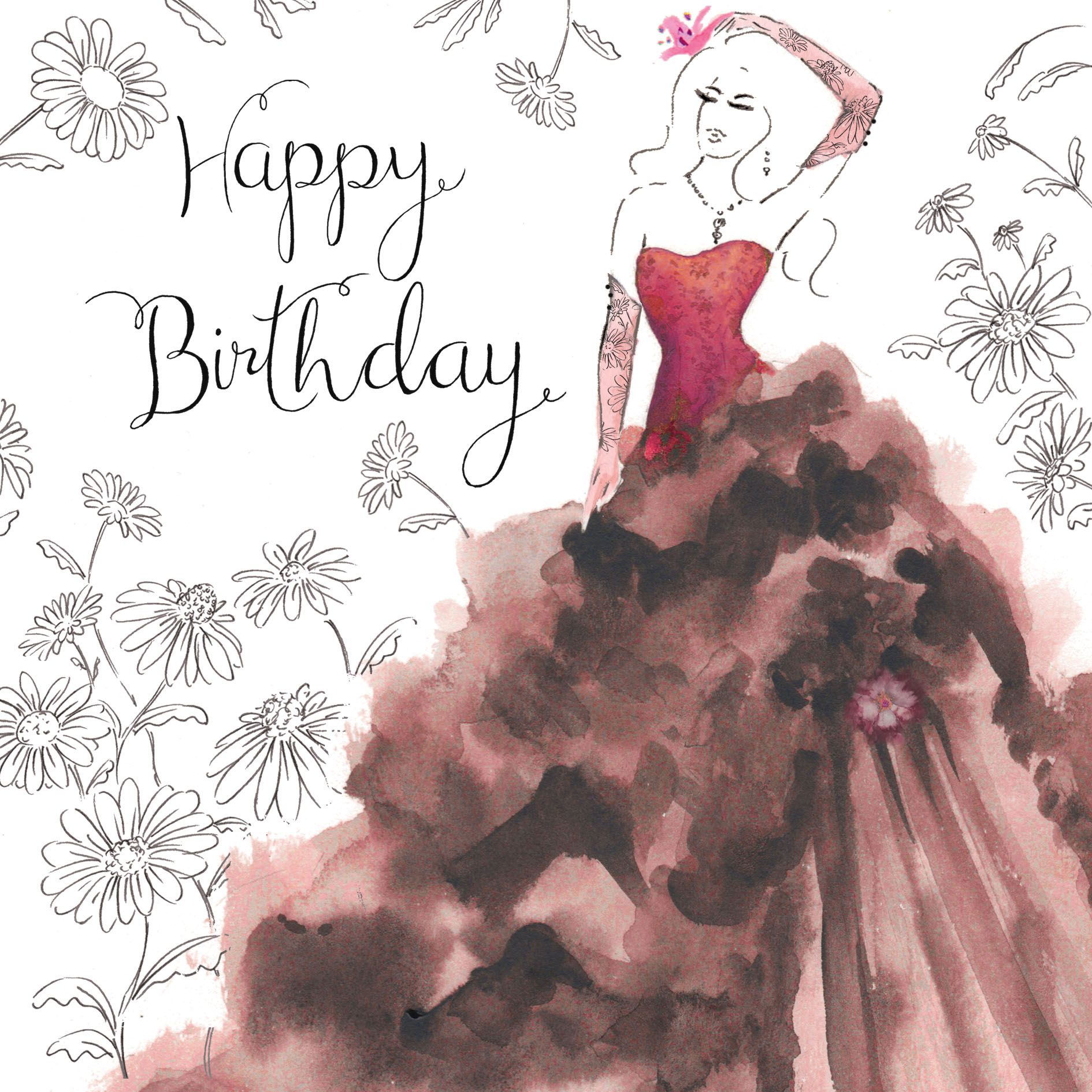 Gorgeous Birthday Cards. Birthday Card For Her. Female