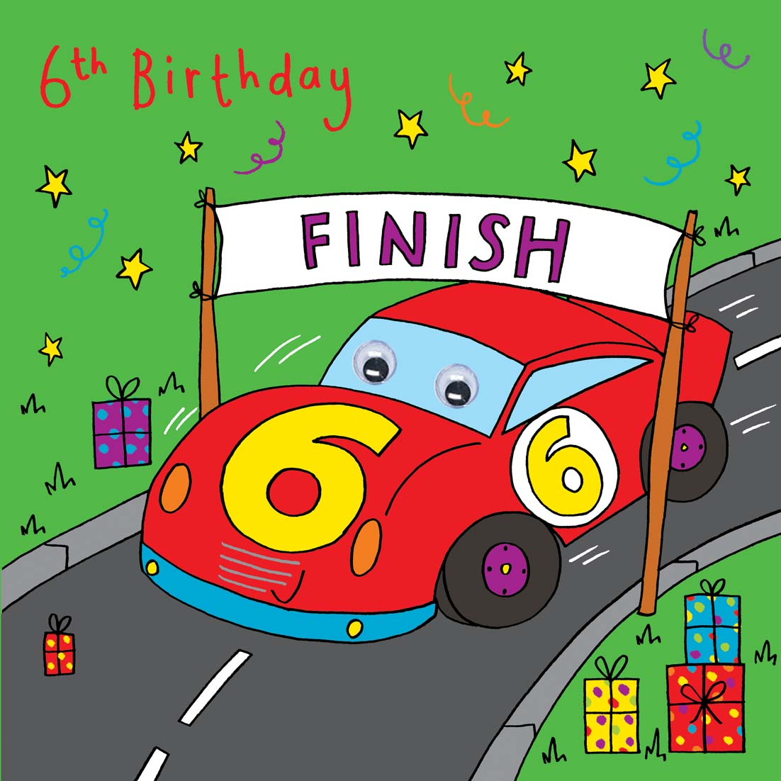 Racing Car Birthday Card