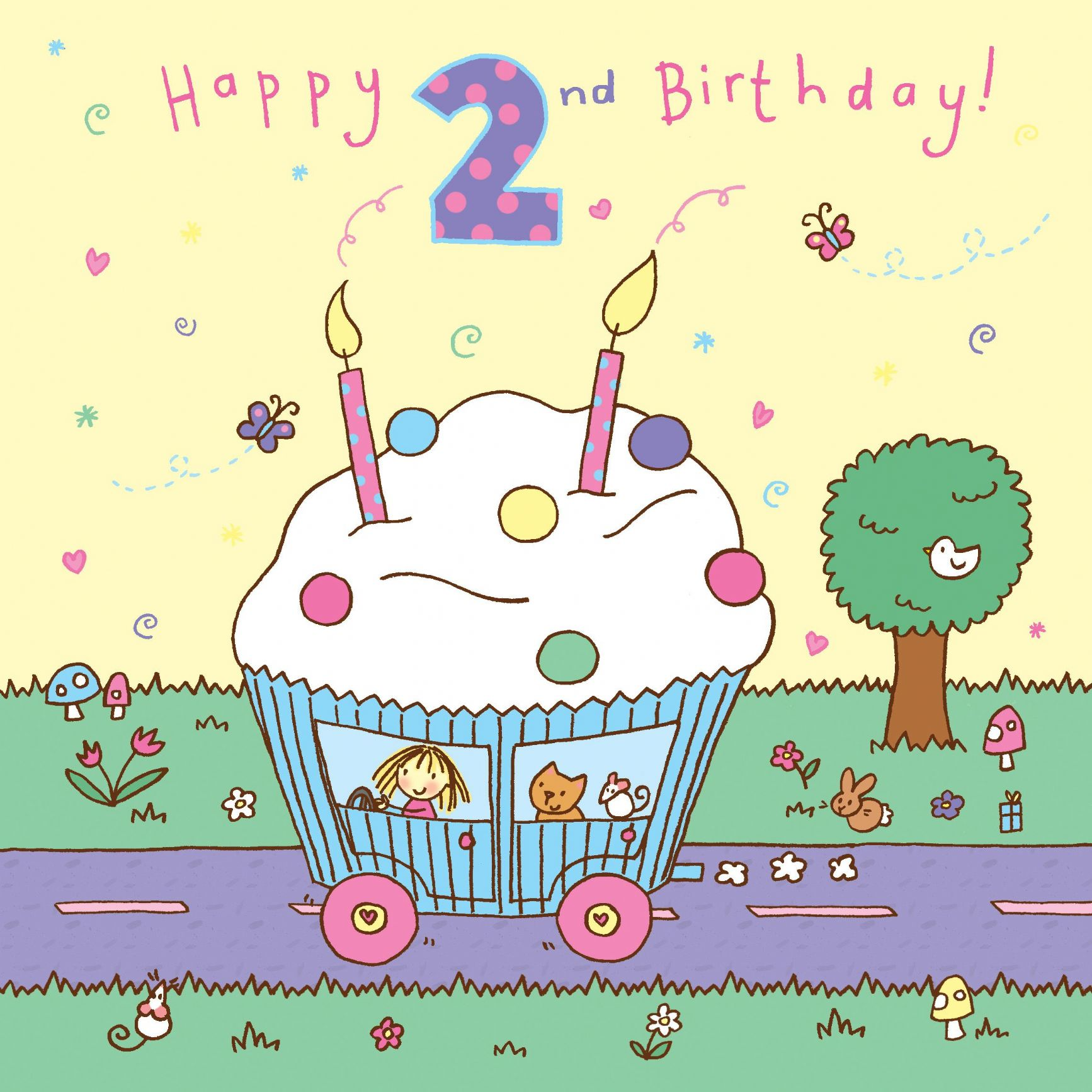 Age 2 Birthday Card 2169 P