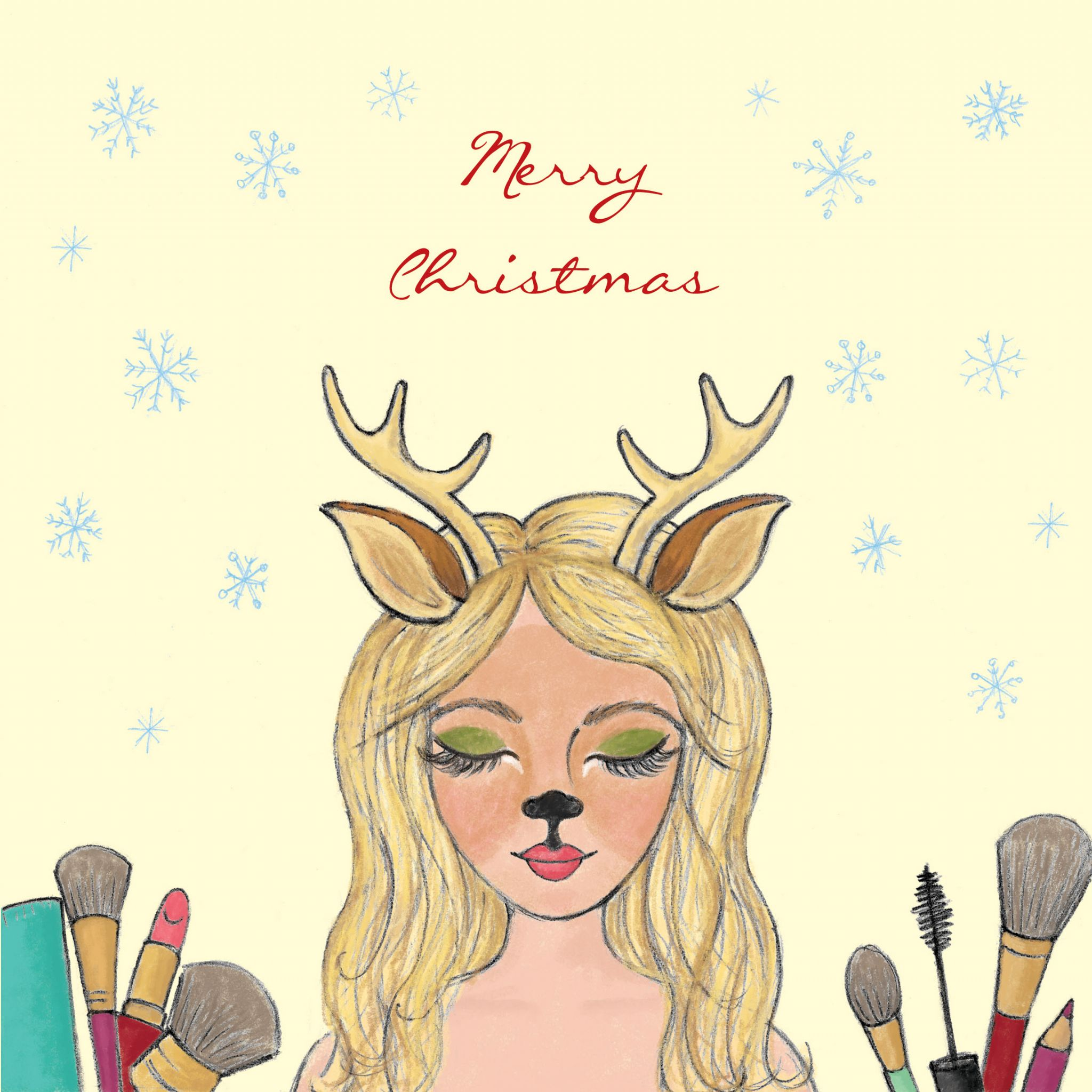 Christmas Beauty Salon.Beauty Salon Christmas Cards Pack Of 20