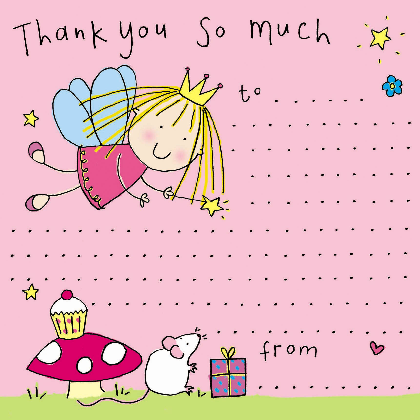 thank you notes for kids, thank you cards for children, kids thank