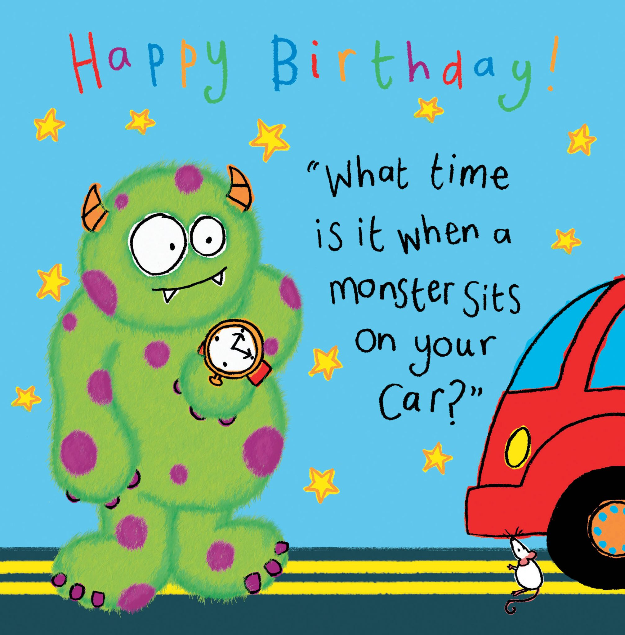 Monster Funny Joke Birthday Card For Kids Tw430 4472 P