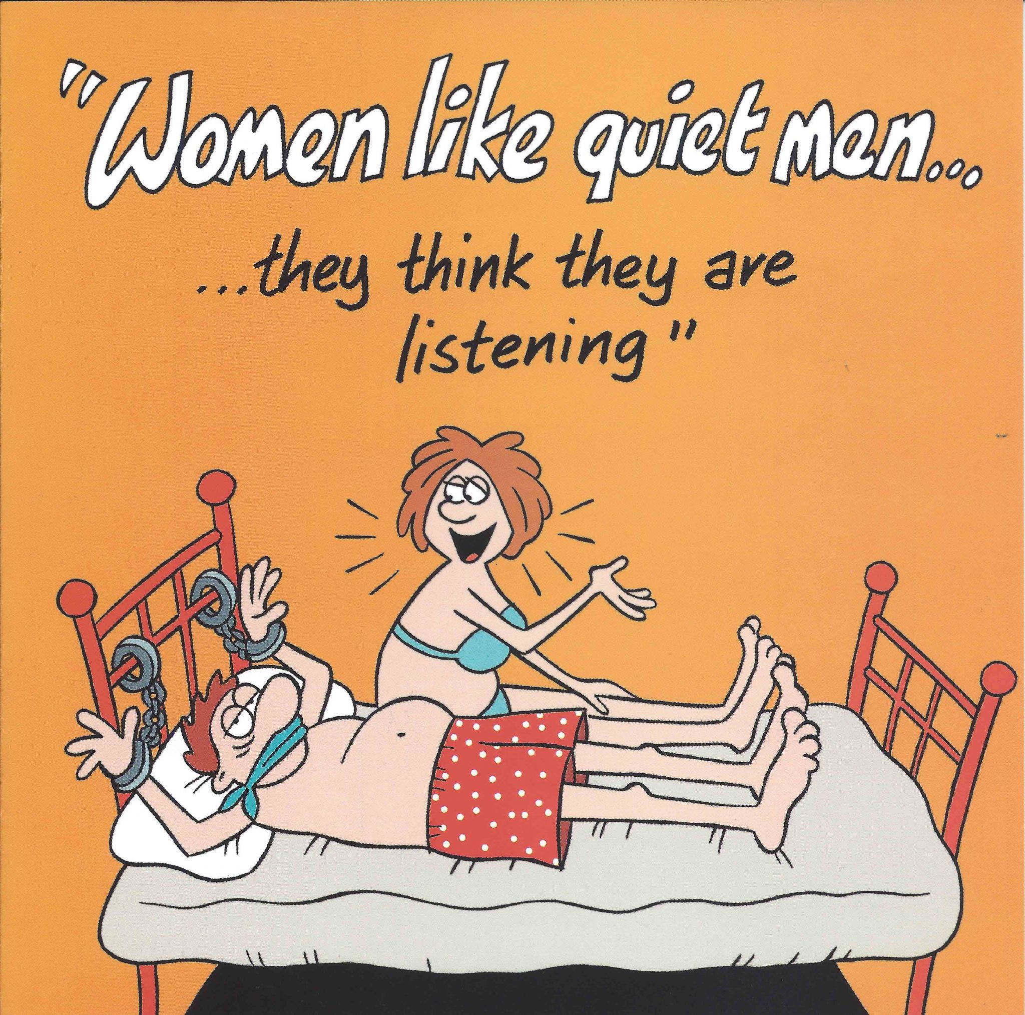 Funny Birthday Cards For Men.Women Like Quiet Men Funny Card Tw529